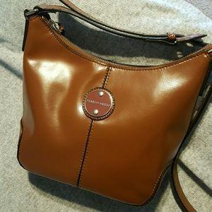 Franco Sarto Caramel brown cross body purse